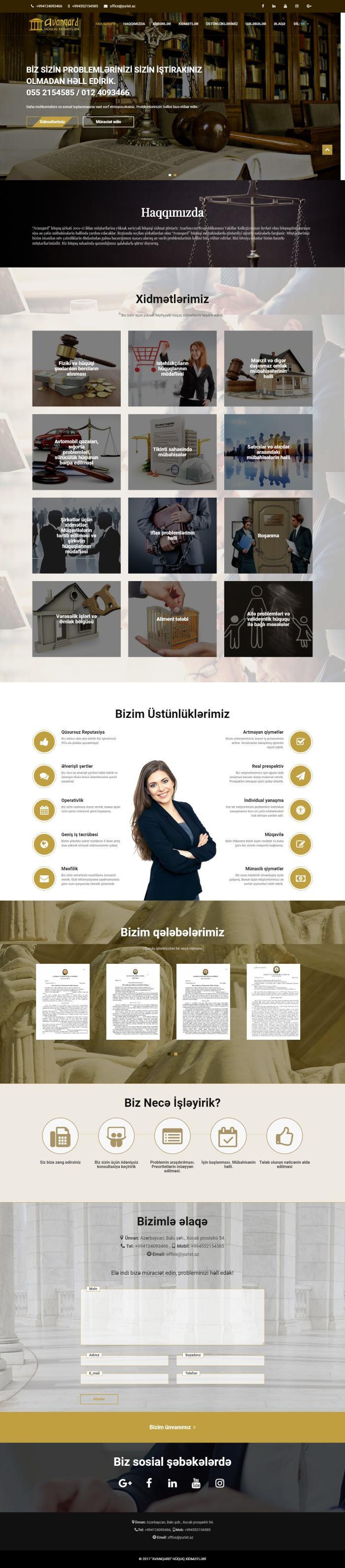 Bakı Şəhəri 19 saylı vəkil bürosu üçün veb sayt şəkil