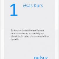 ƏSAS KURSLAR