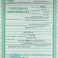 Uyğunluq sertifikatı