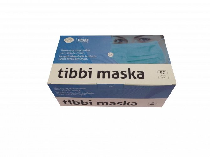 Tibbi 3 qatlı maska